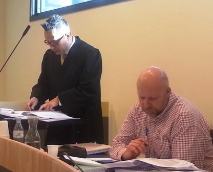 Advokat Carl Bore og Erik Schjenken i Borgarting lagmannsrett