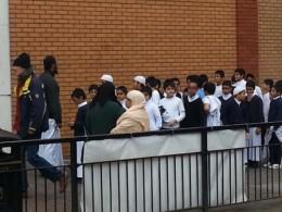 Gutteklasse i East London Mosque. Foto Hege Storhaug, desember 2012