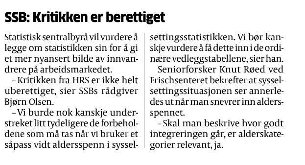 Faksimile fra Aftenposten november 2012