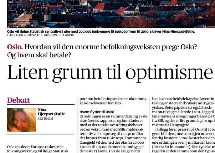 Faksimile fra dagens Aftenposten