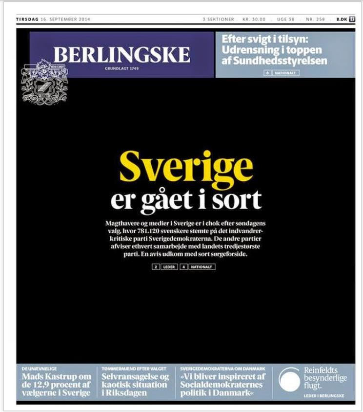 Faksimile av dagens forside i Berlingske