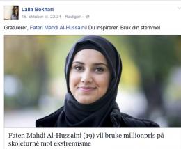 Faten tar valget hos NRK i hijab