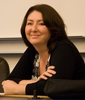 Maryam Namazie before her lecture in the University of Iceland in september 2007.