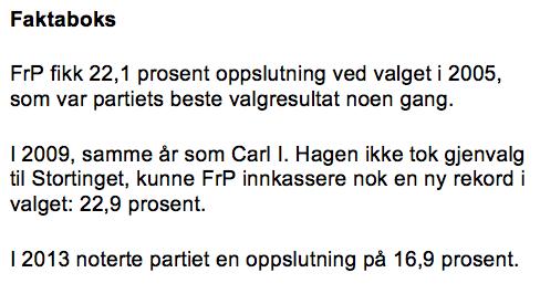 FrP 2005-2013
