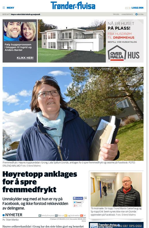 Faksimile fra Trønder-Avisa