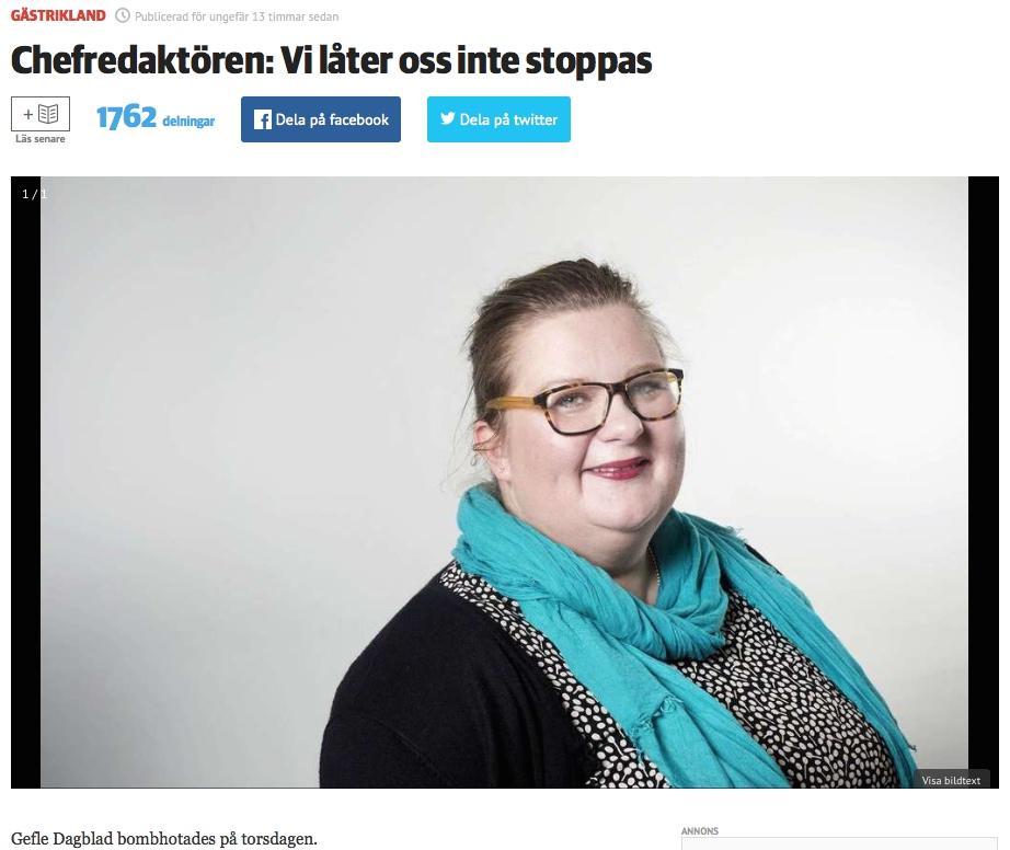 Faksimile: Gefle Dagblad.