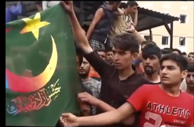 demo_Ungarn_islamsk_flagg