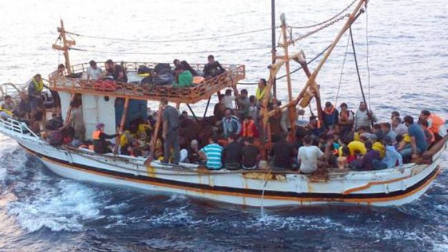 Syriske båtflyktninger
