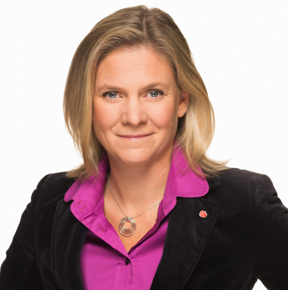 Finansminister i Sverige, Magdalena Andersson (S)