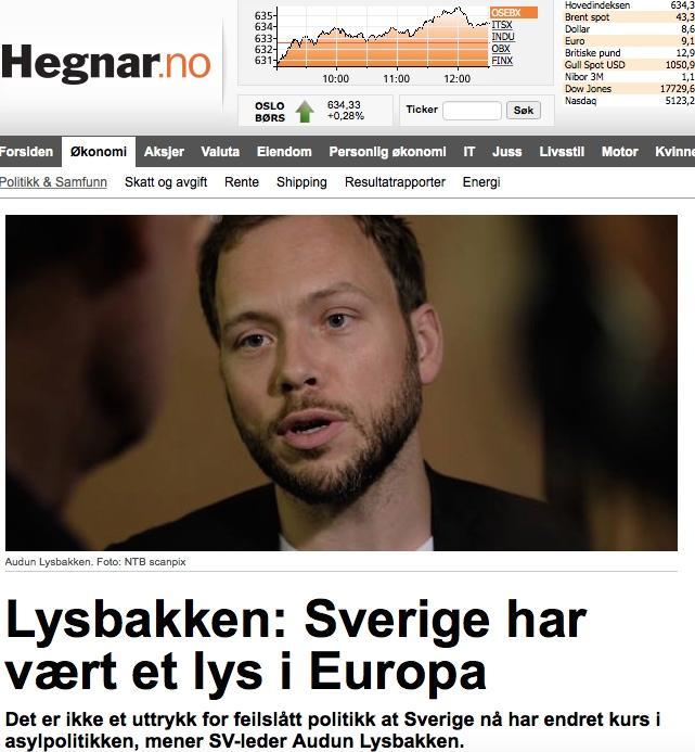 Faksimile: Hegnar.no