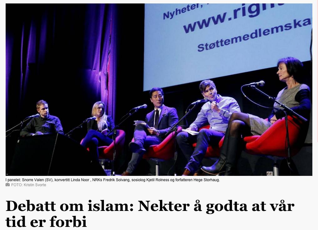 Bokdebatt om islam - faksimile fra Aftenbladet