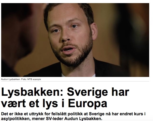 Audun Lysbakken tror velgerne har dårlig hukommelse, men der feilberegner han seg.(Faksimile: Hegnar.no)