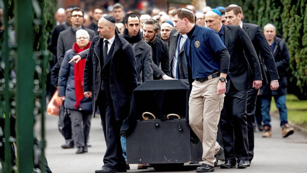 Dan Uzan begraves i København januar 2015.