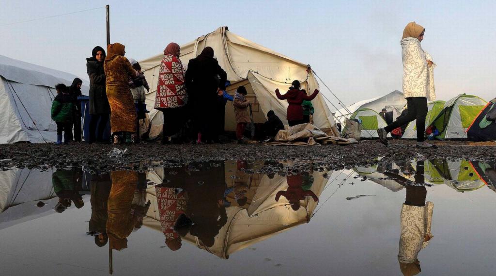 Flyktningleirer i Europa, her fra grensen mellom Hellas og Makedonia.