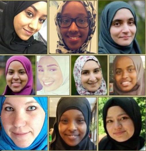 Normkritiske kvinner i Svenska muslimer för fred og rättvisa. Bilde: Aftonbladet.
