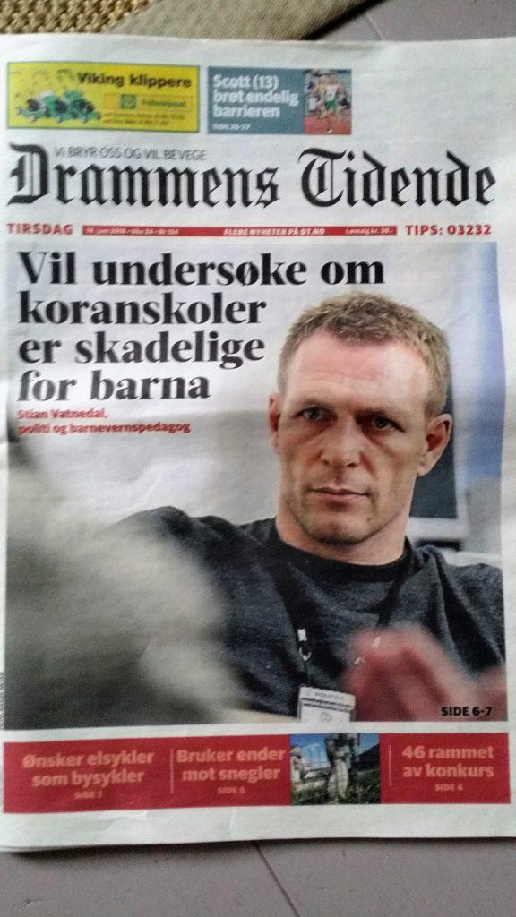 Drammens tidende 14. juni 2016. På tide å våkne, politikere?