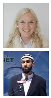 Aina Stenersen og Fahad Qureshi.