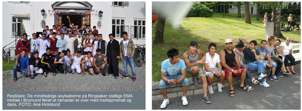 Enslige flyktingebarn i hhv. Norge og Sverige.