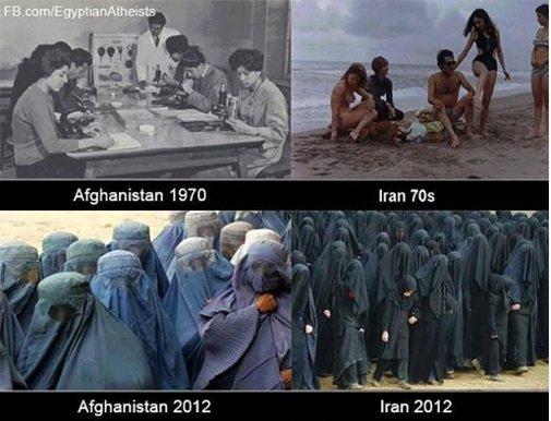 Vi gjør lurt i å huske på at en rekke islamske land ikke alltid har vært som nå, dette er noe som ble innført med den islamske revolusjonen i 1979. Det medfølgende kvinnesynet er ikke et resultat av naturens tyngdelov: landene gikk fra en tilstand til en annen som følge av at religiøse menn søkte og fikk makt nok til å påtvinge samfunnet sin politisk-religiøse ideologi.