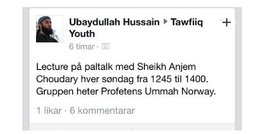Beviset for at Choudary ble benyttet i norsk moské for å spre kalifat-tankegangen.