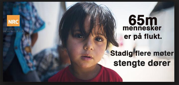 Fra en av de mange av Flyktninghjelpens aksjoner