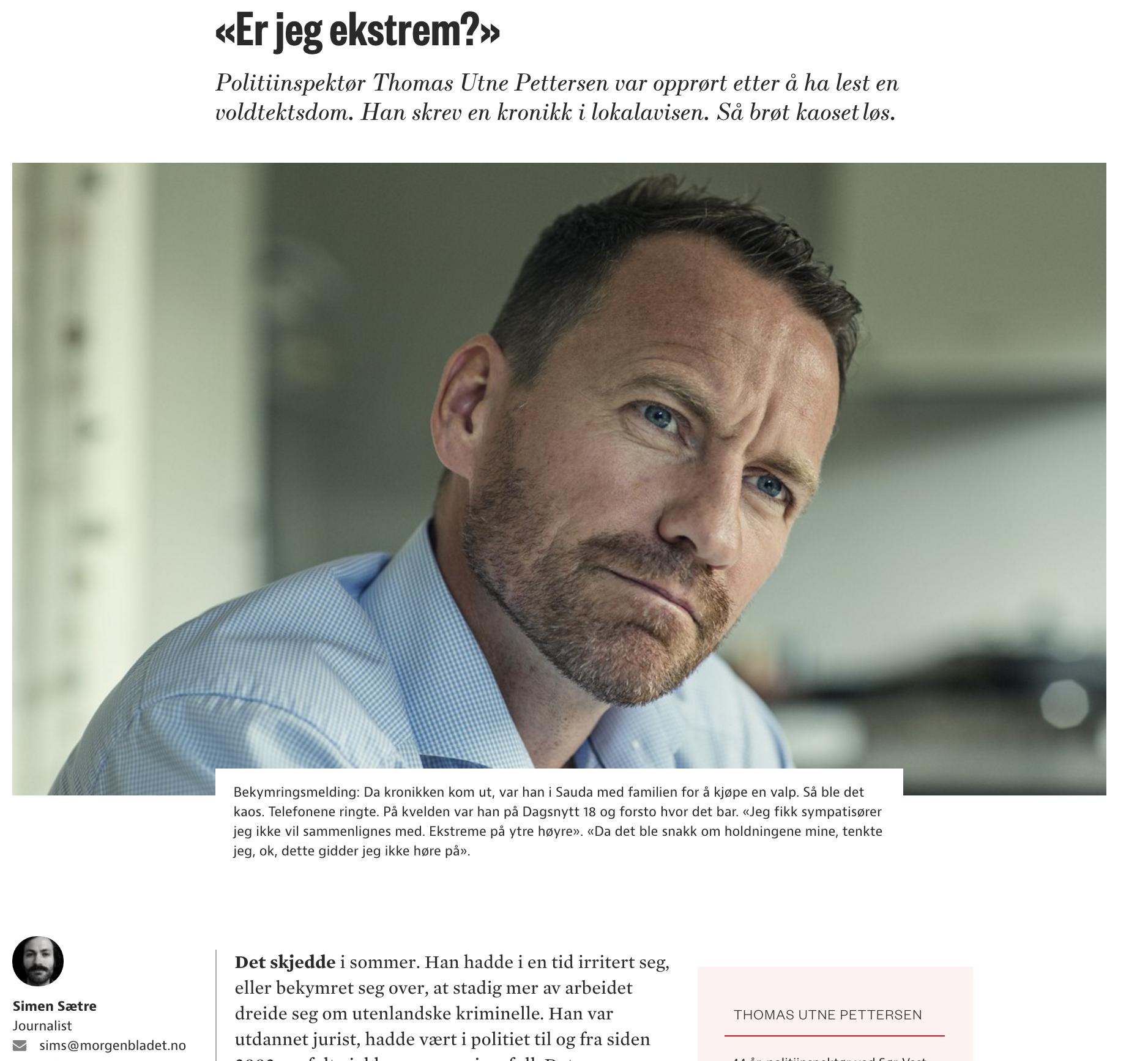 Faksimile fra Morgenbladet