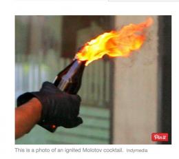 Molotov-coctails i Drammen
