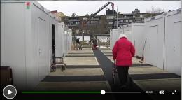 Eldre tvinges til å bo i container
