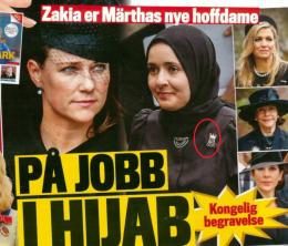 Adjø solidaritet: Märtha med «hoffdame» i hijab