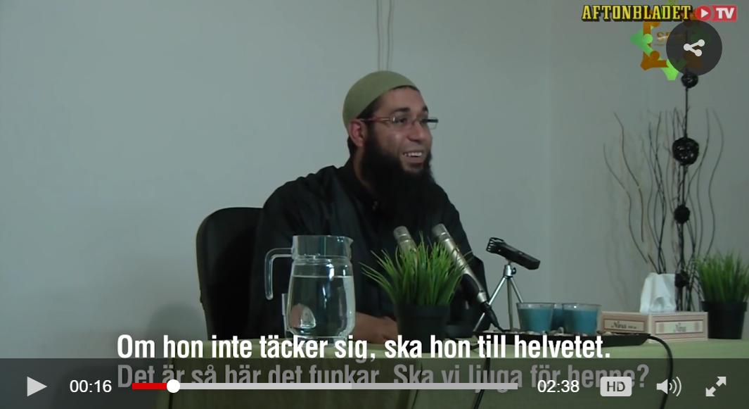 Mister økonomisk støtte etter å ha dømt jentebarn uten hijab til helvete
