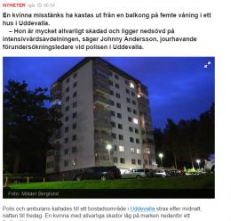 Hele Sverige er et konstant blålys