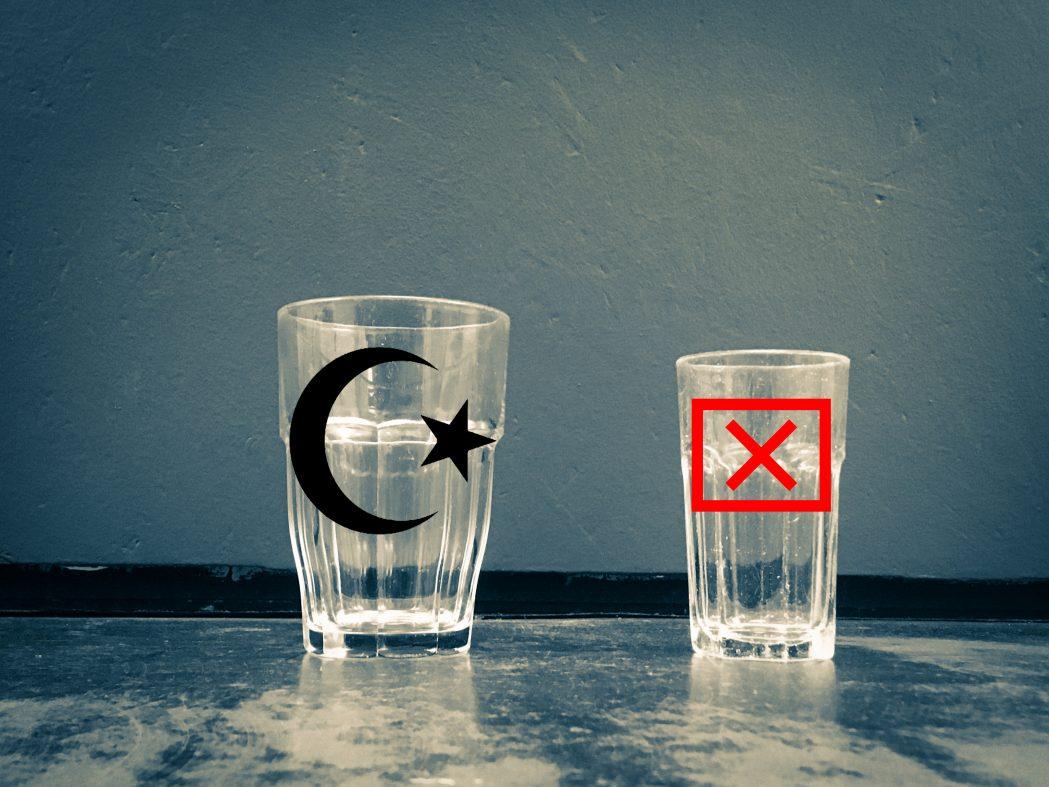 Kan ikke drikke av samme kopp som de vantro