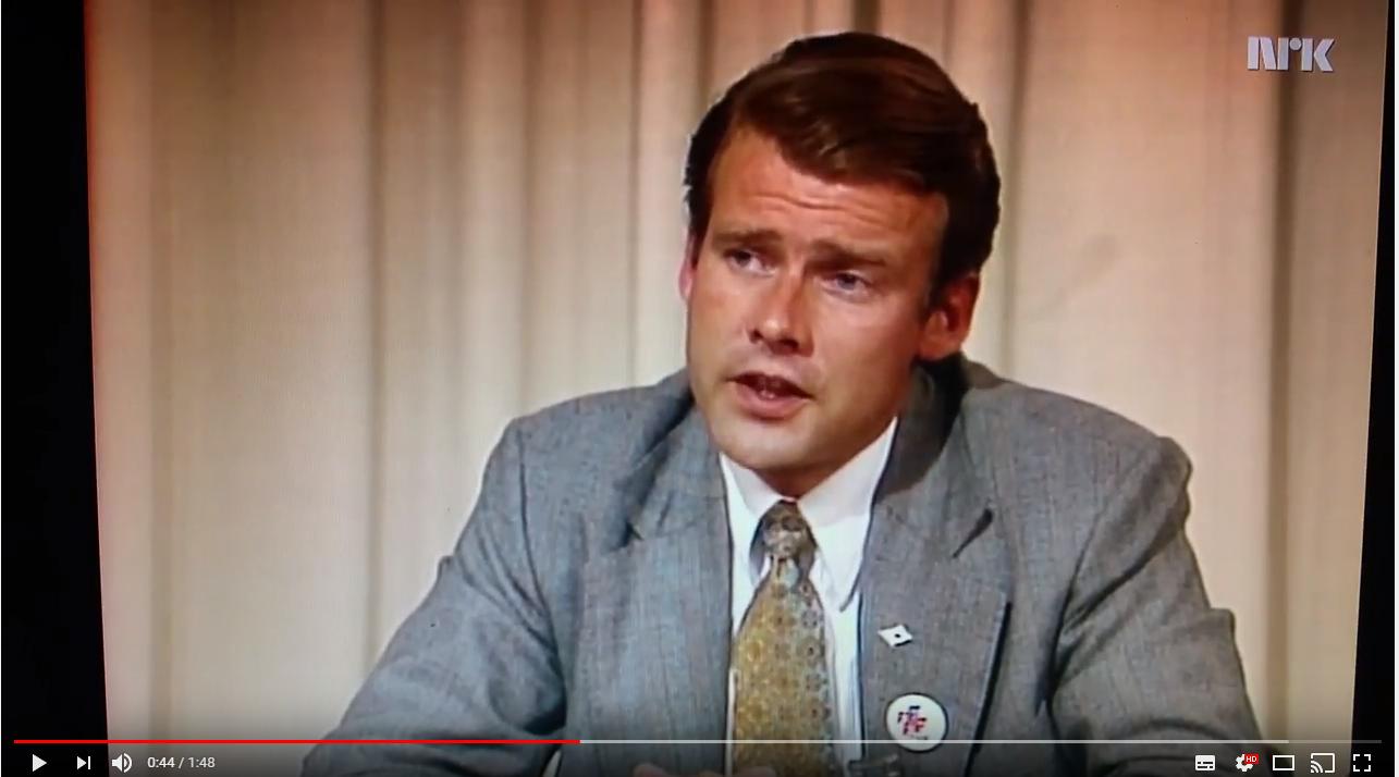 Carl I Hagen advarte mot svenske tilstander i 1977. Se video