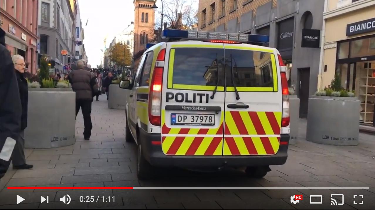Terrorklossene i Oslo stopper også politiet. SE VIDEO
