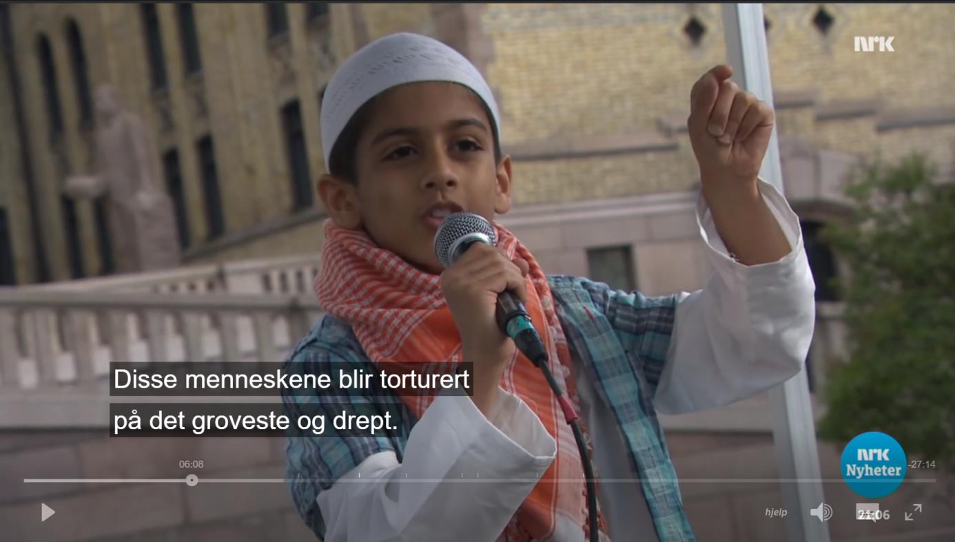 Barn i Norge trenes til å bli islamsk leder. Se video