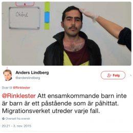 En enslig, mindreårig asylsøker i Sverige