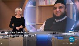 Imam på sykehus ønskes gledelig velkommen av NRK