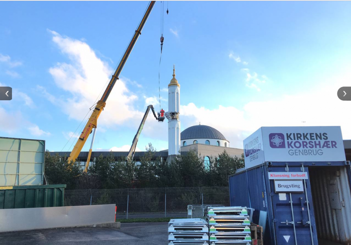 Erdogan-minaret på plass i deilige Danmark, og alle hjerter gleder seg