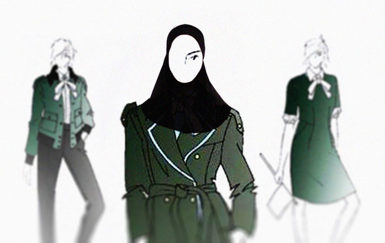Vy med hijab til den nye uniformen. Er det snart nok islamisering?