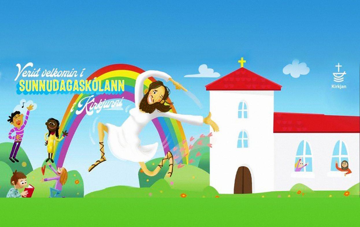 Kirken reklamerer med Jesus som transkvinne og barnehijab
