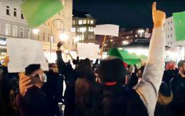 Demonstranter roper «Allahu Akbar» i Berlin og København