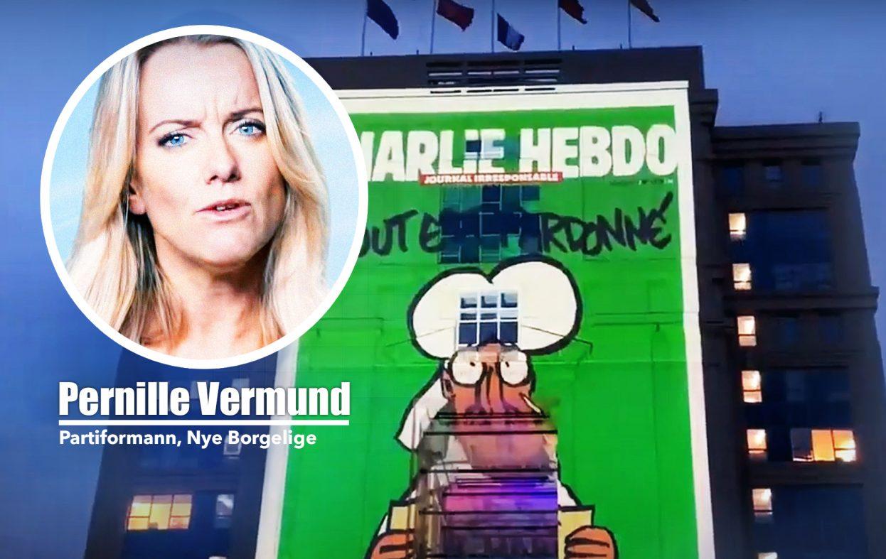 Charlie Hebdo sier nei til Pernille Vermund