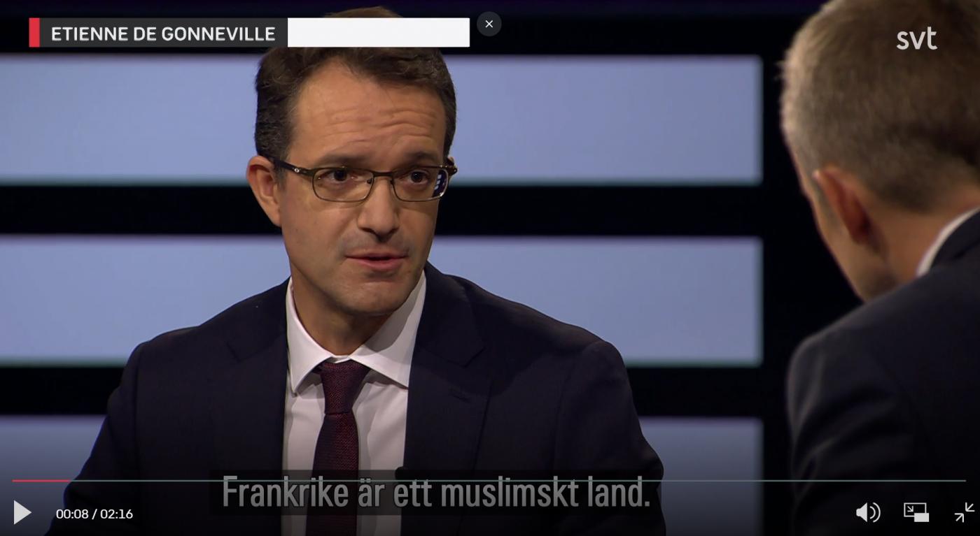 «Frankrike er et muslimsk land», sier fransk ambassadør